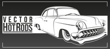 Abstract Hot Rod Graphically, Vector Illustration.