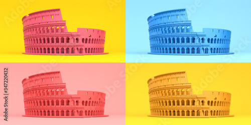 Photo Colosseum or Coliseum in different colors