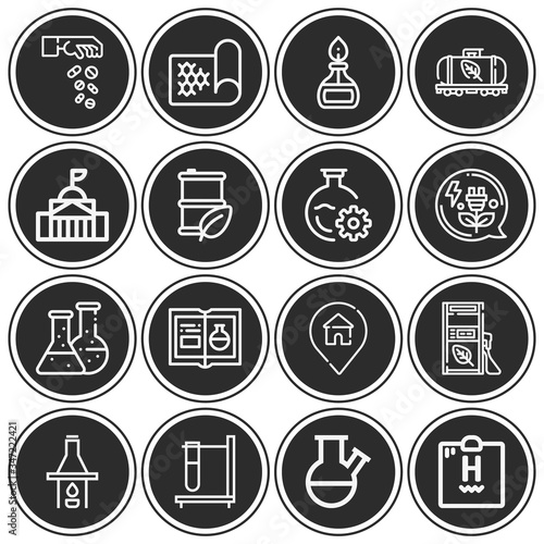 Photo 16 pack of affinity  lineal web icons set