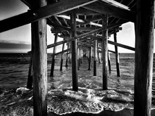 Under View Of Pier Over Sea