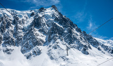 View Of The Aiguille Du Midi In Chamonix, France