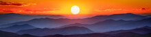 Mountain Sunset Panorama - The...