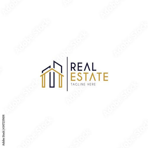 Fototapeta real estate logo design obraz