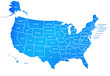 united states map blue,America isolated