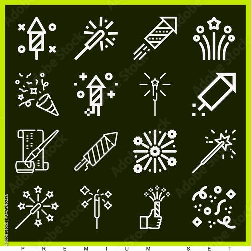 Платно Set of 16 ezra lineal icons