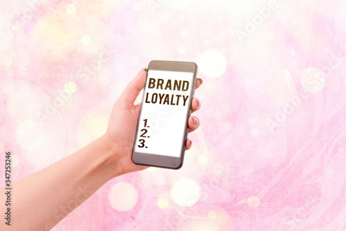 Writing note showing Brand Loyalty Canvas Print