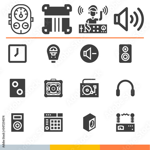 Photo Simple collection of amp related filled icons