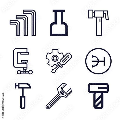 Photo Set of 9 allen lineal icons