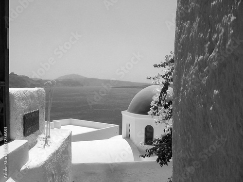Chapel By Sea At Cyclades Fototapet
