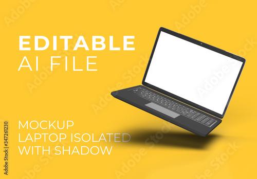 Obraz na plátně FLOATING Laptop MOCKUP ISOLATED IMAGE