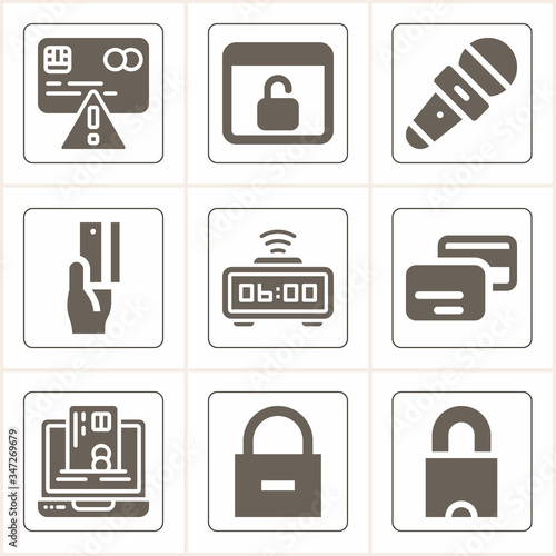 Simple collection of assign related filled icons Canvas Print