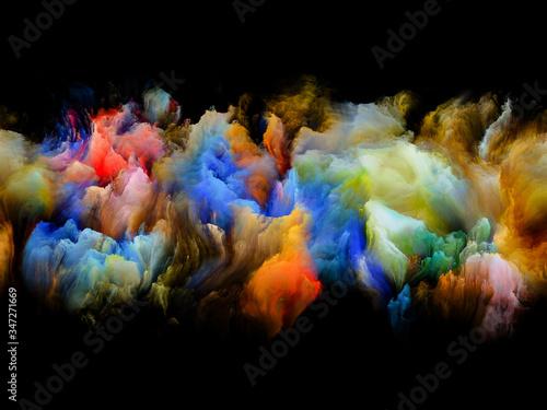 Obraz Colorful Abstract Smoke - fototapety do salonu