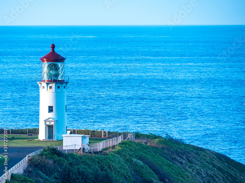 Kilauea Lighthouse served as a beacon to sailors from 1913 till 1976 Canvas Print