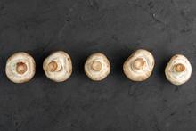 White Mushrooms Ripe Fresh Col...
