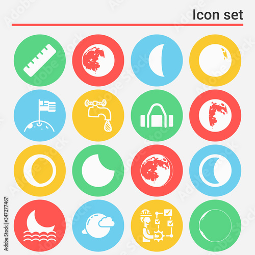 Obraz na plátne 16 pack of supplied  filled web icons set
