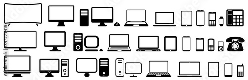 Fényképezés Set technology devices icon: tv, computer, laptop, tablet, smartphone
