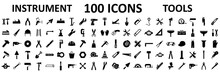 Instrument Icons Set. Construc...