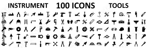 Instrument icons set Fototapet
