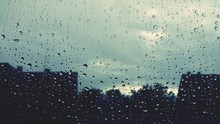 Silhouette Trees Against Sky During Rainy Season