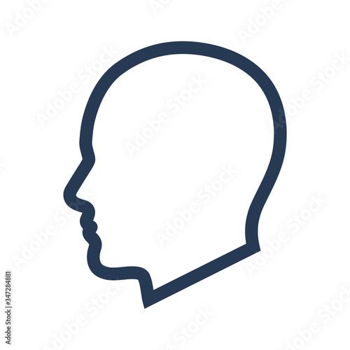 Fotografía Man head icon