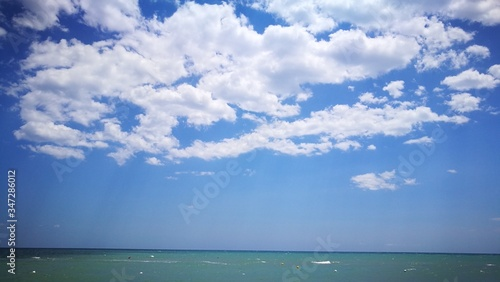 Scenic View Of Sea Against Sky Canvas Print