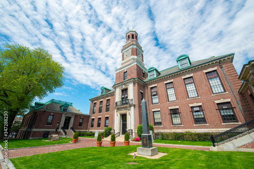 Chelsea City Hall is a historic building modeled after Old Independence Hall in Philadelphia at  500 Broadway in downtown Chelsea, Massachusetts MA, USA Canvas Print