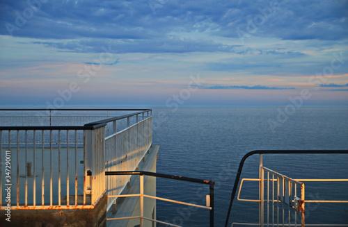 Fototapeta Observation Deck In Sea Against Sky