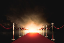 Red Carpet With Bright Light I...