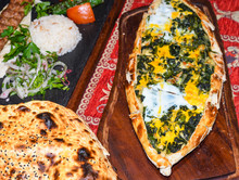 Spinach And Egg Pide, Pita Fla...