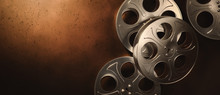 3D Rendering Of Movie Reels On...