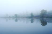 Fog On The Lake, Cloudy Mornin...