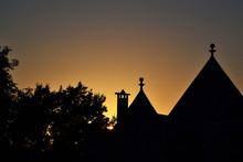 Silhouette Cross Against Sky D...