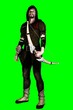Leinwandbild Motiv 3D Robin Hood on green