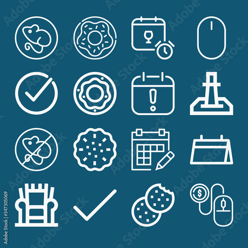 Photo Set of 16 anthony lineal icons