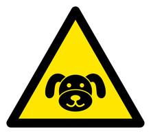 Vector Puppy Flat Warning Sign...