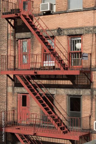 Fotografie, Obraz View Of Fire Escape In Building
