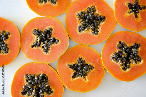 Yellow Sweet Papaya, Tropical Fruit Full of Vitamin C and Enzyme Canvas Print