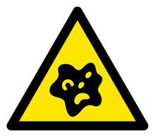 Vector Bacilla Flat Warning Si...