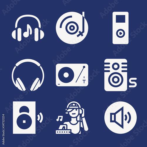 Photo Set of 9 amp filled icons