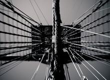 Mast Of Tall Ship Against Sky