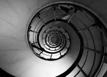 Directly Below Shot Of Spiral ...