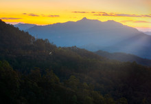 Impressive Scenery During Sunrise From Pang Mapha Districts, Mae Hong Son,Thailand.