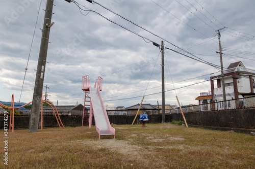 Photo An empty park in Japan, photographed during the coronavirus abstinence