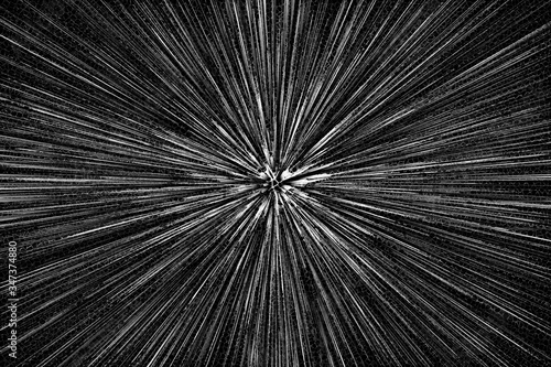 An abstract black and white burst background image.