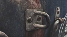 Close-up Of Rusty Metallic Door
