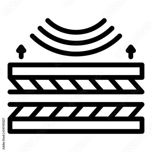 Vászonkép Soundproof panels icon
