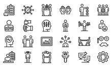 Personal Traits Icons Set. Outline Set Of Personal Traits Vector Icons For Web Design Isolated On White Background