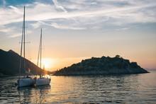 Sailing Sunset On Adriatic Sea...
