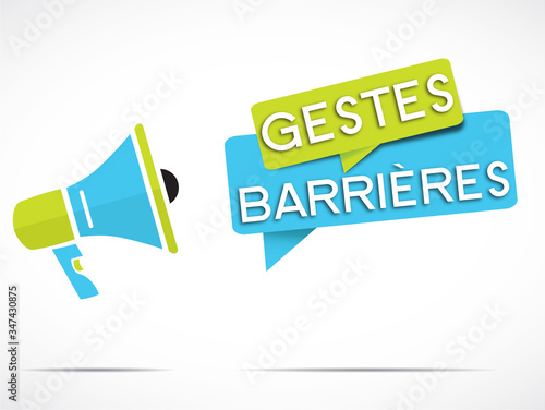 mégaphone : gestes barrières Canvas Print