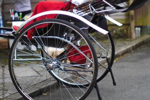 Vászonkép Rear Wheels On Rickshaw